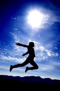 Every Day Sacred - man jumping for joy